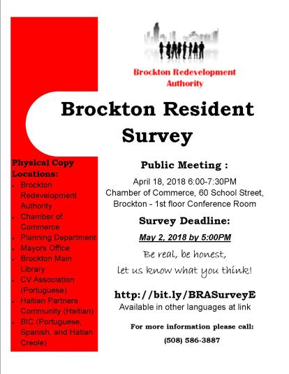 Brockton Resident Survey Flyer 2018 IMAGE