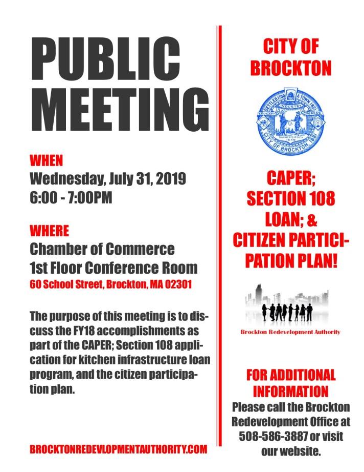Public Meeting Flyer